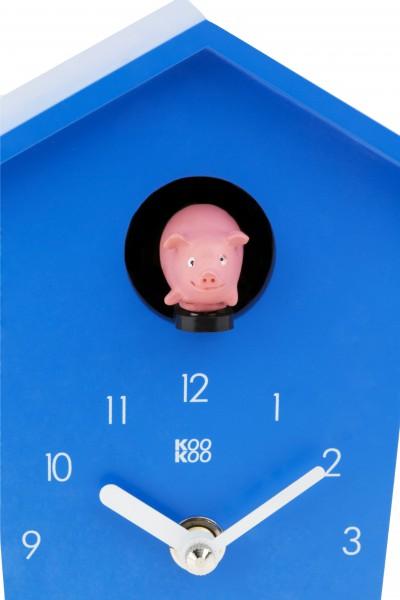 kookoo animalhouse blau die tierische kuckucksuhr kookoo animalhouse. Black Bedroom Furniture Sets. Home Design Ideas