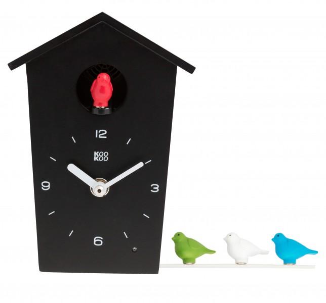 kookoo birdhouse mini schwarz die etwas andere kuckucksuhr kookoo birdhouse. Black Bedroom Furniture Sets. Home Design Ideas
